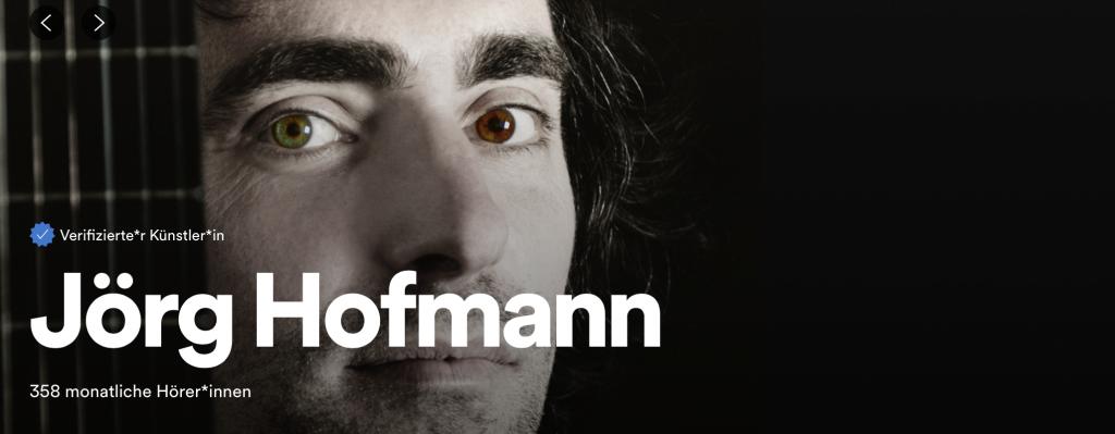 Spotify Profil von Jörg